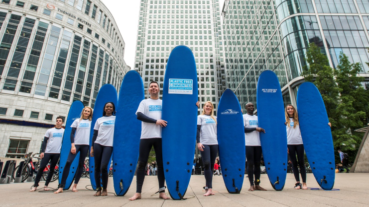 Canary Wharf is the World's First Commercial Centre to be Awarded Plastic Free Communities Status By Surfers Against Sewage – 05.06.19