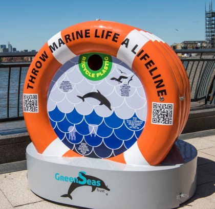 Lifebuoy-shaped Reminder to Keep Plastic Waste out of Thames