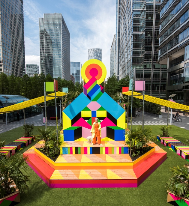 Morag Myerscough's Sun Pavilion set to shine bright at Canary Wharf this summer – 01.06.21