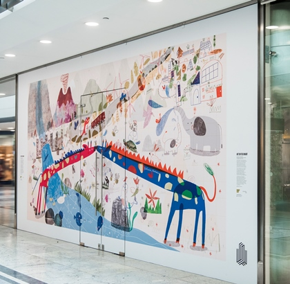 Canary Wharf storefront given bold and colourful makeover in creative collaboration between Kingston School of Art and Canary Wharf Group