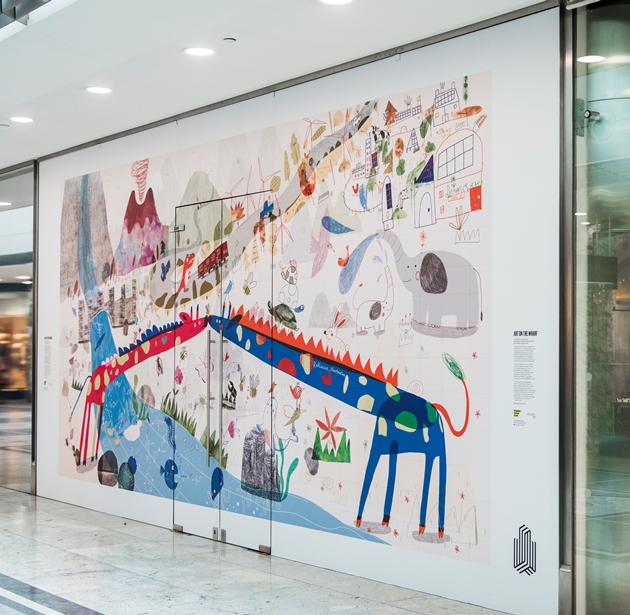 Canary Wharf storefront given bold and colourful makeover in creative collaboration between Kingston School of Art and Canary Wharf Group – 13.10.21